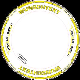 RACEBIKE WHEEL SET Standard mit Wunsch Text (Gelb)
