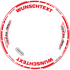 RACEBIKE WHEEL SET Standard mit Wunsch Text (Rot)