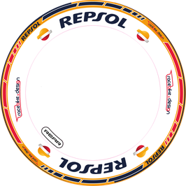 RACEBIKE WHEEL SET REPSOL (Honda GP)