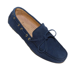Gommini In Blue Suede with laces