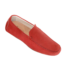 Loafers In Red Suede