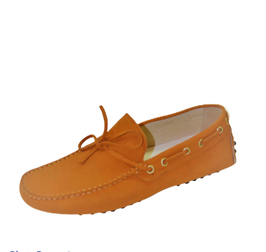 Gommini In Orange Suede with laces