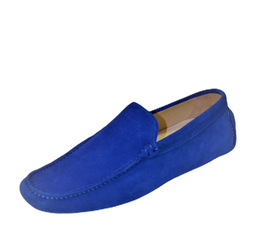 Loafers In Royal Blue Suede