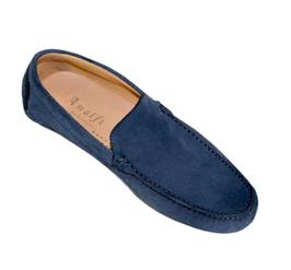 Loafers In Blue Suede