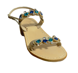 Blue Multi Jewel Sandal