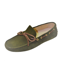 Gommini In Green Suede with Leather laces
