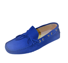 Gommini In Royal Blue Suede with laces