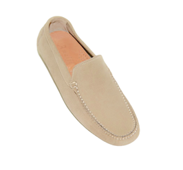 Loafers In Beige Suede