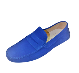 Gommini Penny In Royal Blue Suede