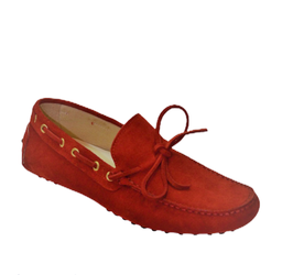 Gommini In Red Suede with laces