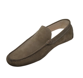 Loafers In Taupe Suede