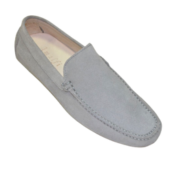 Loafers In Pearl Gray Suede