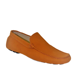 Loafers In Orange Suede