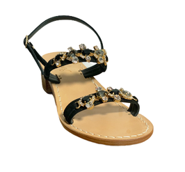 Black Multi Jewel Sandal