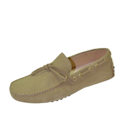 Gommini In Beige Suede with laces