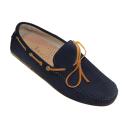 Gommini In Blue Suede with Leather laces