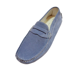 Loafers In Jeans Perforated Suede Penny