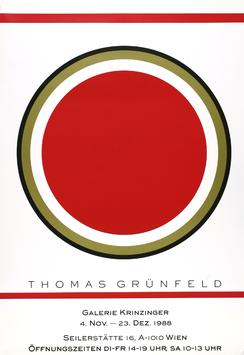 Thomas Grünfeld - Ausstellung, Poster 1988