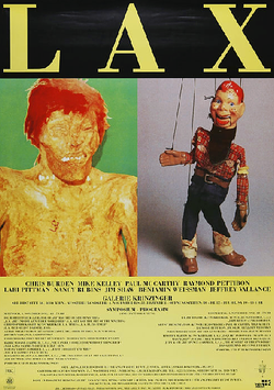 Poster (LAX - Chris Burden und Mike Kelley - signiert) 1992.