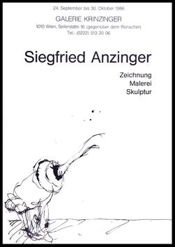 Poster (Anzinger - Siegfried Anzinger - Zeichnungen. Malerei. Skulptur) 1986.