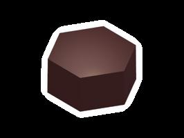 Moule chocolat bonbon hexagone
