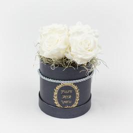 Rosenbox mit 4 Rosen