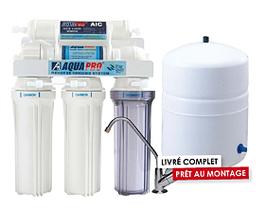 Osmoseur Ménager 5 niveaux avec Shut off - Sans Pompe Booster - Aquapur
