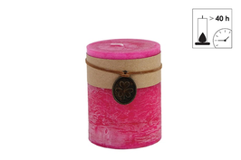 Countryfield Kerze mit Banderole fuchsia