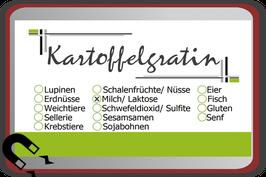 """Buffetschild """"modern"""" hellgrün mit Allergenen"""
