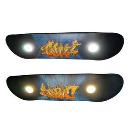 Wunschname als Grafitti (skateboardlampen.berlin)