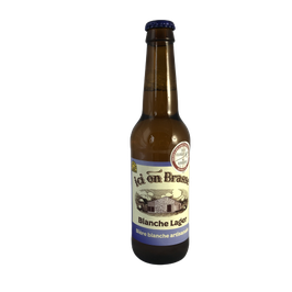 Ici on brasse - Blanche Lager - 75cl