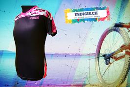 Sportshirt Woman in den trendigen Farben Schwarz/Pink und mit Camouflage
