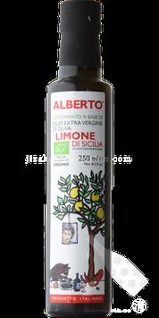 アルベルトさんのエクストラ・バージンオリーブオイル リモーネ(有機栽培レモン)250ml