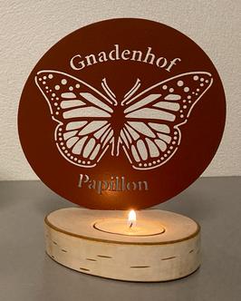 Papillon Teelicht ROT