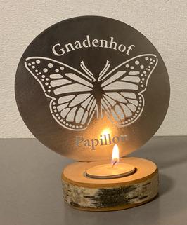 Papillon Teelicht SILBER (Metall roh)