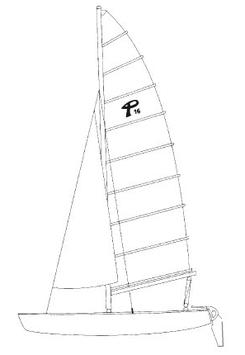 Prindle 16 Classic Color Mainsail