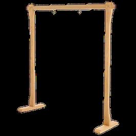 Holz Gong / Tam Tam Ständer - Extra Large