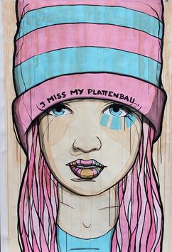 El Bocho - I miss my Plattenbau (Blau Pink)