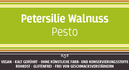 Petersilienpesto mit Walnuss