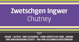 Zwetschgen - Ingwerchutney, 140g