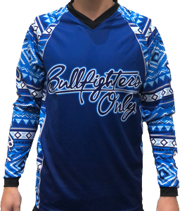 Youth Tribal Blue Pride Bullfighters Only Jersey