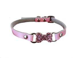 Halsband rosa Knochen