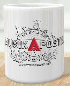MusikApostel Tasse mit Logodruck