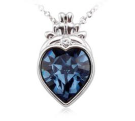 ALEYSA – Kette mit dunkelblauem Herzanhänger