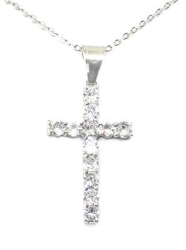 ***LARA - Halskette mit Zirkonia Kreuzanhänger