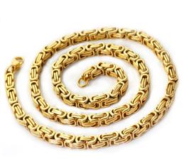 DANILO - Köningskette / Edelstahlkette GOLD