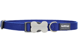 Red Dingo Dog/Puppy Collar Plain Dark Blue