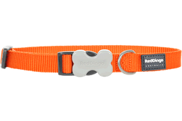 Red Dingo Dog/Puppy Collar Plain Orange