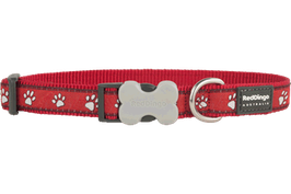 Red Dingo Dog/Puppy Collar Desert Paws On Red