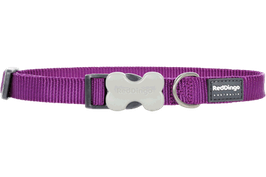 Red Dingo Dog/Puppy Collar Plain Purple